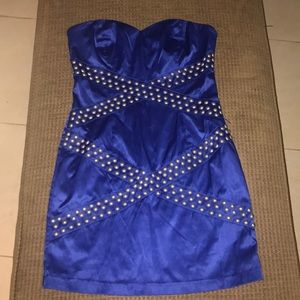 Bebe Mini Blue Dress